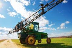 Tractor sprayer on open field 04 Stock Photos