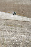 Tractor Spraying Field. Tractor Spraying a large Field Royalty Free Stock Photos