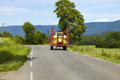Tractor Spraying Royalty Free Stock Photography