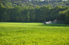 Tractor Spraying Pesticide Royalty Free Stock Image