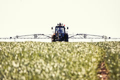 Tractor spraying Royalty Free Stock Photo