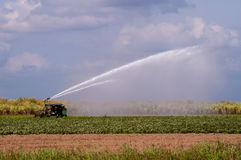Tractor Spraying Water Stock Photography