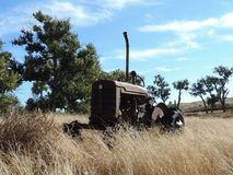 1948 Tractor Stands Ready Stock Photography