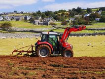 Tractor. Stock Photo Keywords  agricuture, field, plough field, plough soil, ploughed, ploughed field, ploughed fields, ploughed soil, ploughing, ploughing Stock Images
