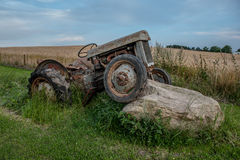 Tractor on a stone Royalty Free Stock Photo
