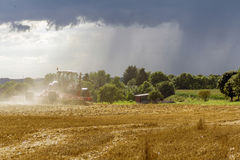 Stormy farming scenery Royalty Free Stock Image