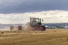 Stormy farming scenery Stock Photos