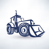 Tractor stylized vector symbol Stock Photography