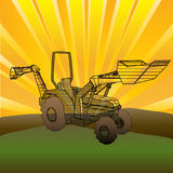 Tractor Sunrise Royalty Free Stock Photo