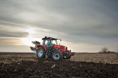 Tractor in Sunset Royalty Free Stock Image