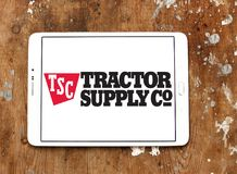 Tractor Supply Company, TSC, logo. Logo of Tractor Supply Company on samsung tablet. Tractor Supply Company TSCO is an American retail chain of stores that royalty free stock photo