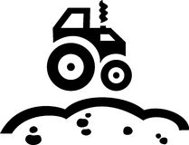 Tractor 2. Symbol of tractor running on the ground Stock Photography