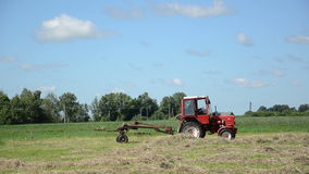Tractor ted hay field Royalty Free Stock Photography