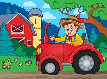 Tractor theme image 6. Eps10 vector illustration Stock Photos