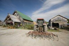 Tractor tiller farm center Stock Photography