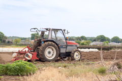 Tractor with tiller Royalty Free Stock Photos