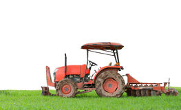 Tractor tilling in field Royalty Free Stock Photos