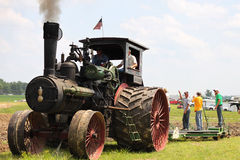 Tractor Tilling Land Royalty Free Stock Photography