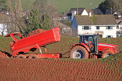 Tractor with tipper trailer Stock Image