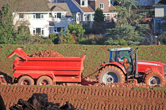 Tractor and Tipper trailer Royalty Free Stock Photos