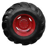 Tractor tire. On white background Royalty Free Stock Image