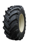 Tractor tire. On white background Royalty Free Stock Photos