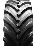 Tractor tire. Big tractor tire isolated on white background Royalty Free Stock Photo