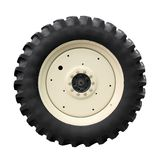 Tractor tire. On white background Royalty Free Stock Photography