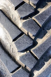 Tractor tire closeup Royalty Free Stock Images