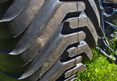 Tractor tire. Royalty Free Stock Photography