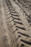 Tractor tire tracks Stock Photography