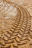 Tractor tire tracks Stock Photo
