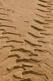 Tractor tire tracks Stock Images