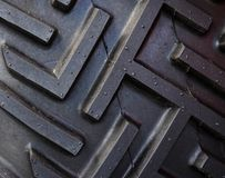 Tractor Tire Tread. The rubber tread of a tractor tire Stock Photography