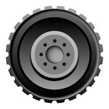 Tractor tire on white background Royalty Free Stock Image