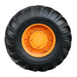 Tractor tire on white background. ( isolated with paths Royalty Free Stock Photo