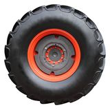 Tractor tire. On white background ( isolated with paths Royalty Free Stock Image