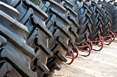 Tractor tires. Stack of brand new tractor tires Stock Image