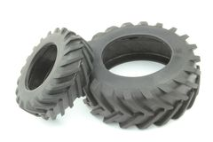 Tractor tires. On white background Stock Image