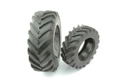 Tractor tires Stock Photos