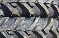 Tractor tires. Close up of new tractor tires Stock Image