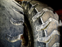 Tractor Tires. Dirty and Old Tractor Tires Stock Photo