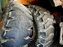 Tractor Tires. Older Tractor Tires Stock Image