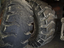 Tractor Tires. Used Tractor Tires in store Royalty Free Stock Photo