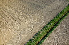 Tractor traces Royalty Free Stock Photo