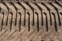 Tractor traces Stock Image