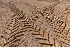 Tractor traces Stock Photos