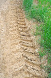 Tractor track Stock Photo
