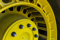 Tractor Track Wheel. A closeup of a tractor track wheel Stock Images