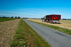 Tractor and trailer Stock Images
